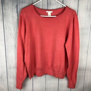 H&M Thin Crewneck Sweater Pink Size Large